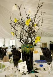 Peacock Feather Centerpieces by 92 Best Wedding Centerpieces Images On Pinterest Wedding