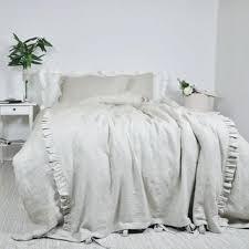 White Ruffle Bed Skirt Gathered Ruffle Bed Skirt Cream Ruffle Duvet Cover Queen Pink