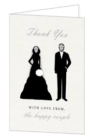 and groom card and creepy and groom thank you card wedding thank