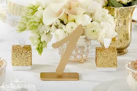 gold wedding table numbers gold glam wedding inspiration from kate aspen gold table numbers