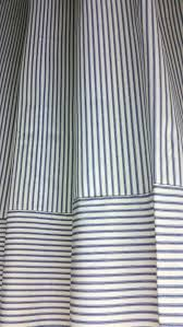 Blue Ticking Curtains Blue And White Ticking Stripe Curtains Ticking Stripes Rod Pocket