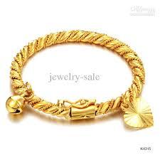 childrens gold bracelets new arrival manual twist bangle for kids 18k gold plated ringing