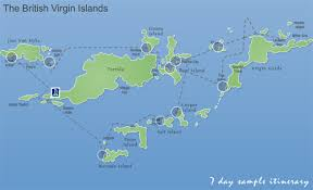 map of the bvi map of bvi major tourist attractions maps