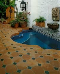 hand painted tile and saltillo fountain project idea tiles in