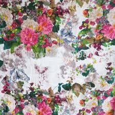 Home Upholstery Aliexpress Com Buy Blue White Butterfly Flowers Garden Print