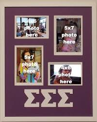 sorority picture frame sigma sigma sorority 16x20 collage photo mat and wall mount frame