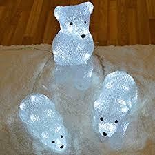 Large Polar Bear Christmas Decorations by Outdoor Led Acrylic Christmas Decoration Polar Bear Family Brand