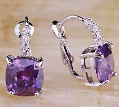 amethyst earrings reiki power purple amethyst earrings