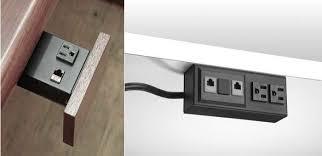 Office Desk Power Sockets Desk Power Strips Remodelista Many Desk Outlet