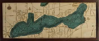 map of lake geneva wi lake geneva wi 3d wood maps maps