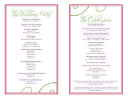 sle wedding programs template wedding reception program templates 28 images wedding program