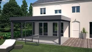 verre pour veranda delt u0027alu présente les vérandas avec toiture à plat d u0027akraplast