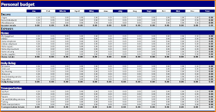 Excel Personal Budget Template 5 Personal Budget Template Excel Writable Calendar