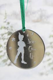 never grow up peter pan aluminum christmas ornament family