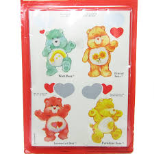 care bears valentines mystery messages vintage pack 12