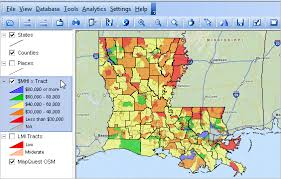louisiana map with counties louisiana demographic economic trends census 2010 population