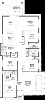 narrow lot single storey house plans u0026 designs perth vision one