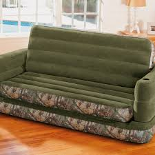 Inflatable Pull Out Sofa by Intex Inflatable Realtree Camo Print Queen Size Pull Out Sofa Bed