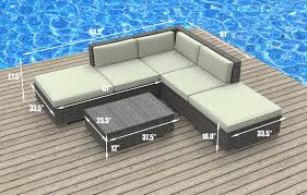Bali Wicker Outdoor Furniture by Urbanfurnishing Net Bali Bali 6pc Modern Outdoor Backyard Wicker