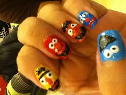 sesame street gang nail art gallery