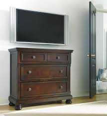 Sleigh Queen Bedroom Set Furniture Ashley Furniture Porter Collection Uses A Deep Finish