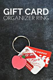 gift card organizer gift card organizer ring mad in crafts