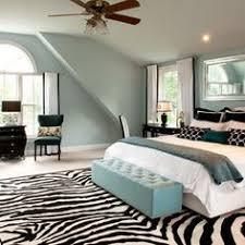 Black White And Teal Bedroom - Teal bedrooms designs