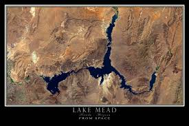 lake mead map lake mead nevada arizona satellite poster map terraprints com