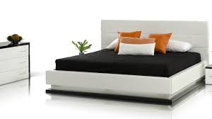 Modern White Bed Frame Infinity Contemporary White Platform Bed With Lights