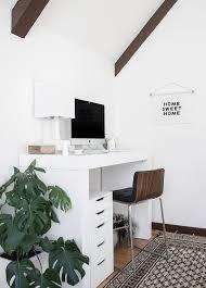 How To Organize A Small Desk by Minimalist Office Organization Copycatchic