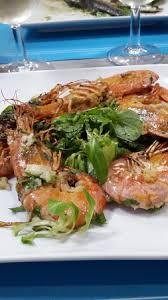 sylvie cuisine gambas plancha et sauce ailloli picture of la poissonnerie chez