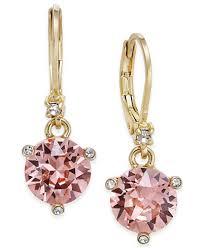 cubic zirconia drop earrings kate spade new york gold tone pavé pink cubic zirconia drop
