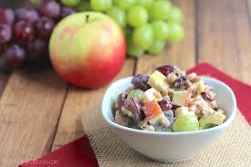 hearty fruit and nut salad with yogurt dressing