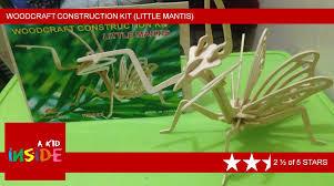 woodcraft construction kit little mantis stop motion assemble