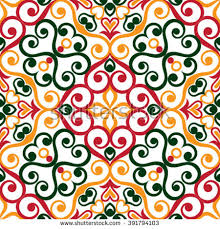 traditional floral ornament italian seamless stock vector