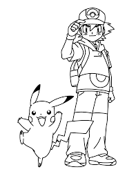 pokemon coloring pages ash exprimartdesign