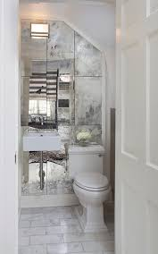 Beveled Bathroom Mirror by Odd Shape Room Powder Room Traditional With Antique Mirror Beveled