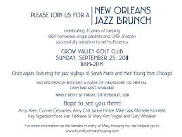 mimosa brunch invitations humility of housing new orleans jazz brunch 2011 your