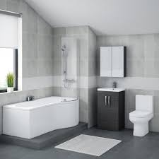 Bathroom Vanity Units Online by Brooklyn Hacienda Black Bathroom Suite With B Shaped Bath Online Now