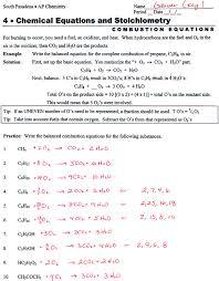 balancing chemical equations worksheet 1 worksheets