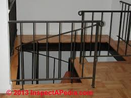 metal landing banister and railing guardrails guide to guard railing codes specifications heights