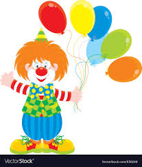 clowns balloons circus clown with balloons royalty free vector image