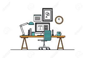 ligne bureau ligne design plat mince d espace de travail de design moderne avec