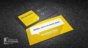 Graphic Designers Business Card Flat Design Business Card Template With Long Shadow