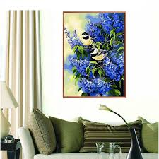 Blue Bird Home Decor 5d Diamond Painting Birds Handwork Craft Diy Home Decor Is
