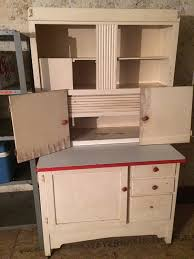 Hoosier Cabinets For Sale by Kitchen Hoosier Style Cabinet White With Red And White Porcelain