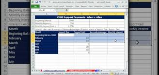 how to calculate child support payments in microsoft excel