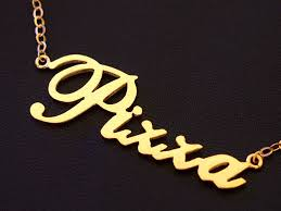 Personalized Gold Name Necklaces Personalized Gold Name Necklaces The Sweet Gold Name Necklace