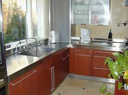 stainless steel countertop with sink how to choose a metal countertop for your kitchen