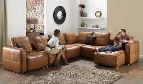 Brown Leather L Shaped Sofa 7 Modern L Shaped Sofa Designs For Your Living Room Living Rooms